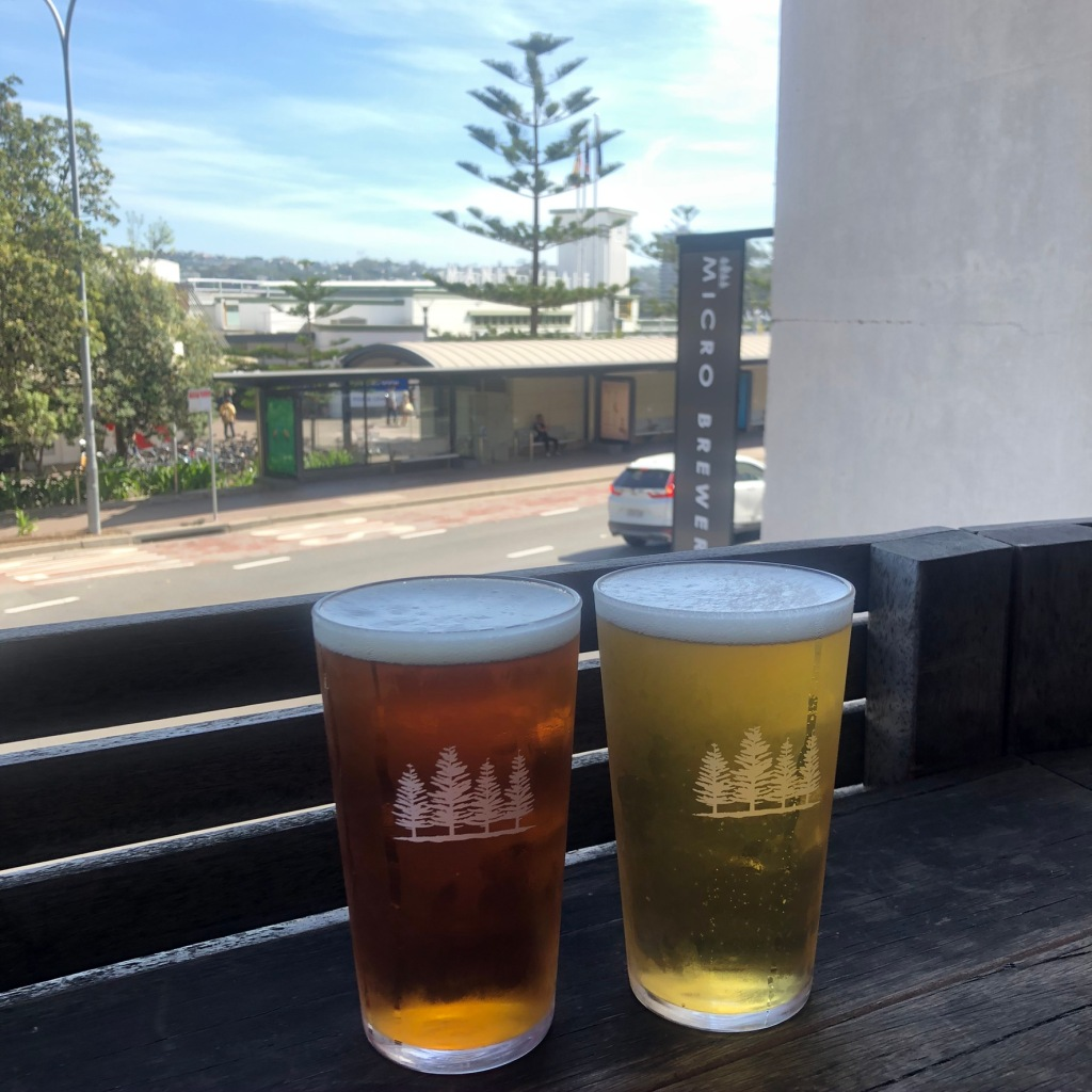 A picture of two beers in 4Pines brewery in Manly